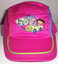 dora the explorer hat, hats, baseball cap, baseball hat, ball cap, ball hat, sun hat, sun